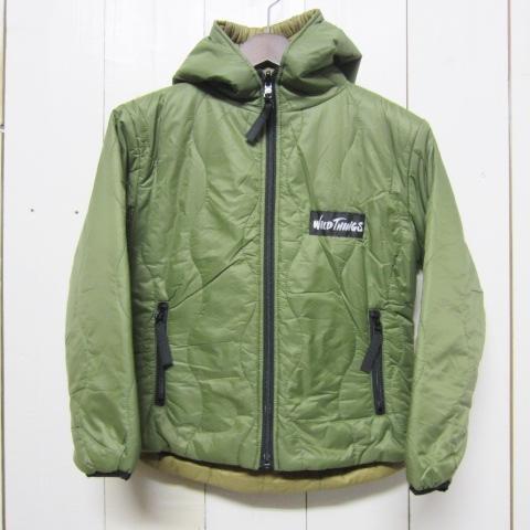 wild things ワイルドシングス hooded primaloft jacket olive 情熱セール 品質保証 kids coyote