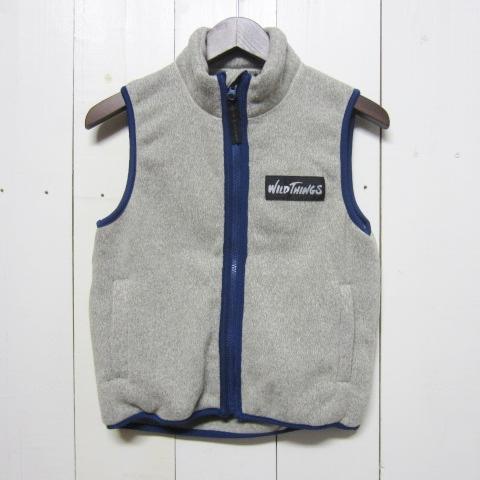 wild things ワイルドシングス [knit fleece vest][kids][grey]