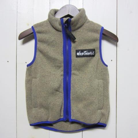 wild things ワイルドシングス [knit fleece vest][kids][oaemeal]