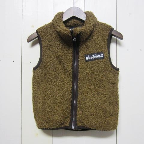 wild things ワイルドシングス [monster fleece vest][kids][coyote]