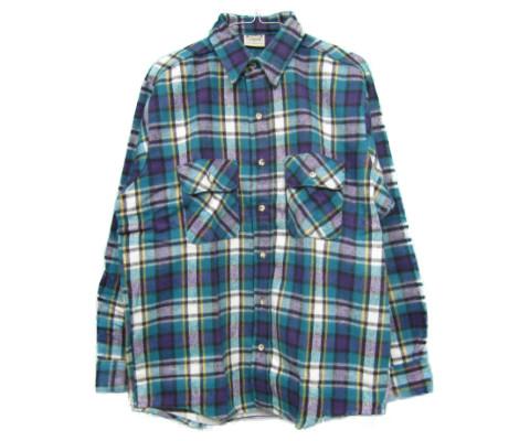 【希少】【MADE IN USA】【DEAD STOCK デッドストック】 five brother [heavy flannel shirts][ls][dead stock][blue] ファイブブラザー ネルシャツ