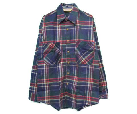 【希少】【MADE IN USA】【DEAD STOCK デッドストック】 BIG MAC [heavy flannel shirts][ls][dead stock][navy/multi] ビッグマック ネルシャツ
