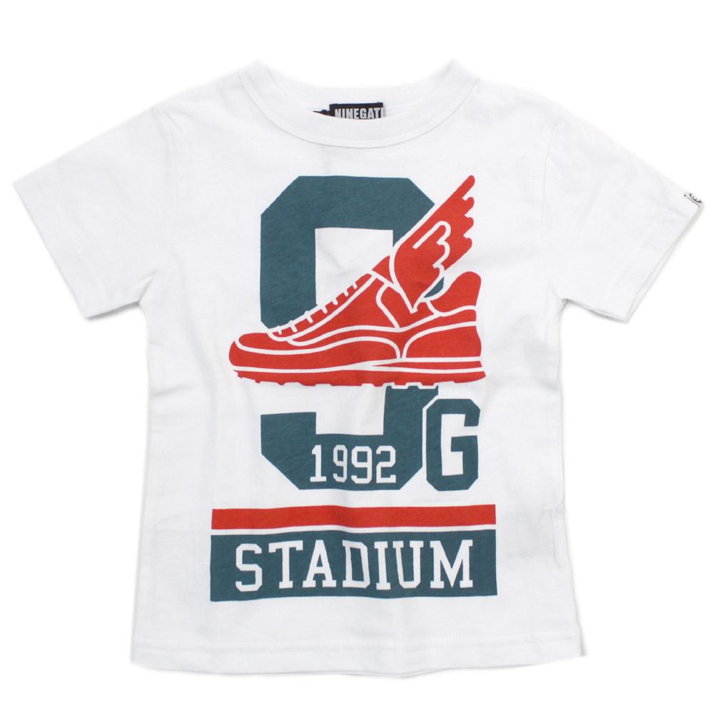 NINE GATES 子供服 ナインゲイツ 子ども服 ジュニアサイズ セール 002 STADIAM 75%OFF シロ Tシャツ 再入荷 希少 予約販売