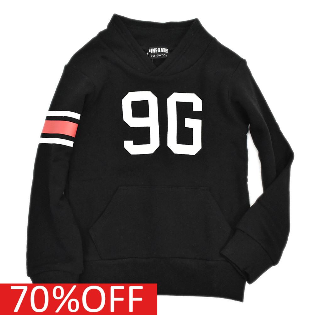 本物 ナンバリング カレッジ NINE GATES 子供服 ナインゲイツ 子ども服 ブラック セール 海外 60%OFF 9Gショールカラースウェット 5 ジュニアサイズ