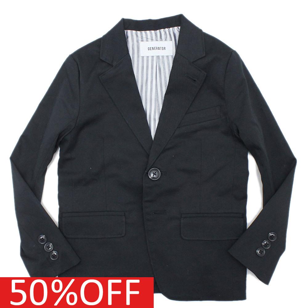 【ジェネレーター/子供服/GENERATOR/こども服】 【DRESS LINE】2B テーラードジャケット(レギュラーフィット) ブラック(BK)