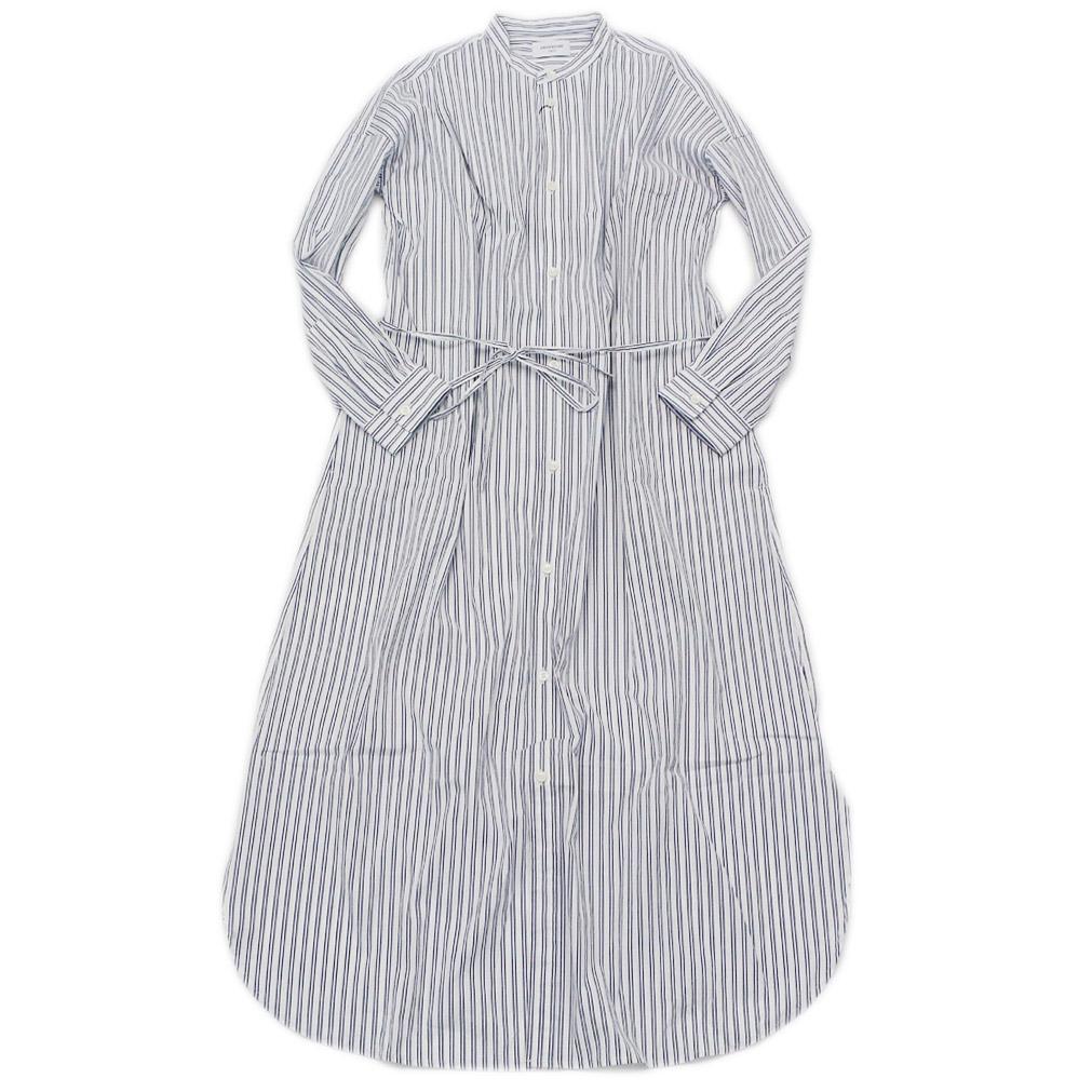 【アーチ&ライン ARCH&LINE 子供服】 ファインブロード ストライプロングワンピース ホワイト(11)