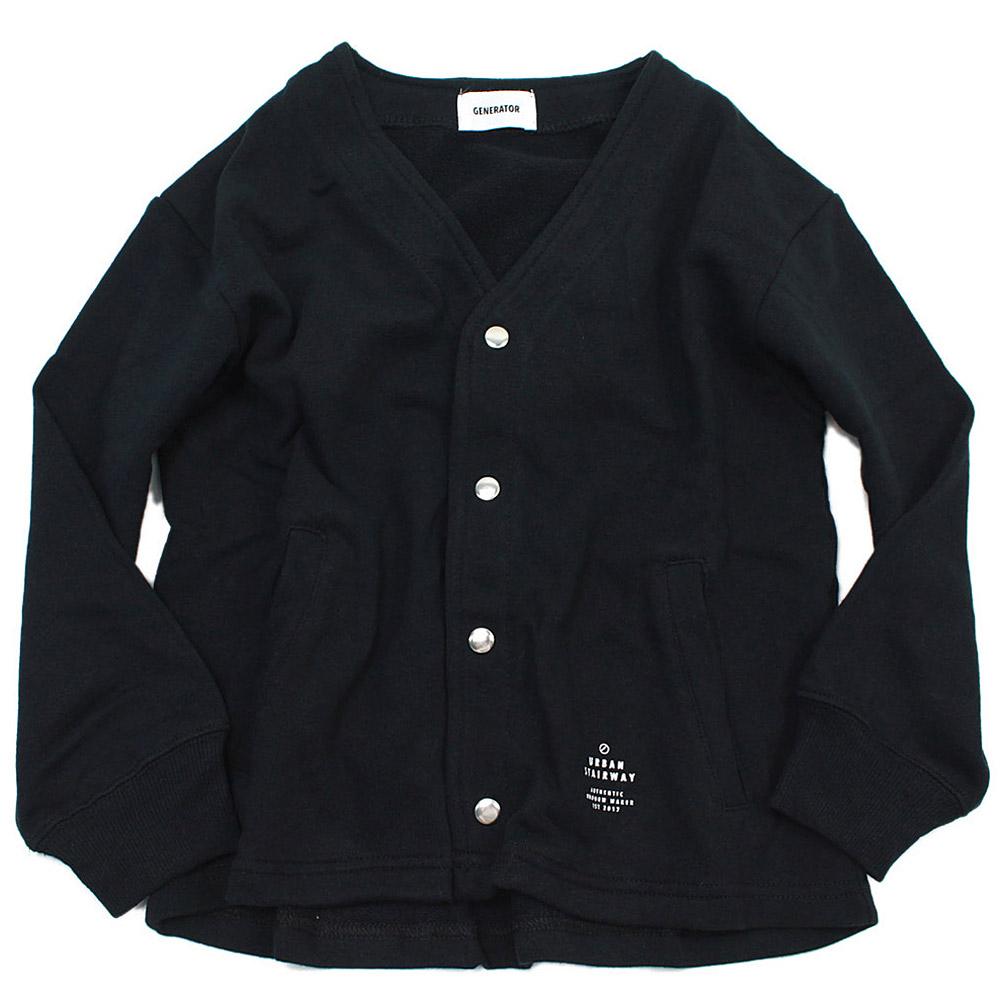 カーディガン ノーカラー GENERATOR ジェネレーター ジュニアサイズ 贈答品 子供服 こども服 セール 国内在庫 60%OFF BK ブラック JK