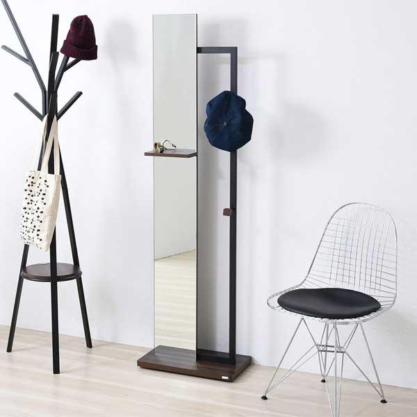 リ・コンテ Re・conte リタ Rita ブラック BK スタンドミラー Stand Mirror DRT-1005-BK 【送料無料】【代引不可】
