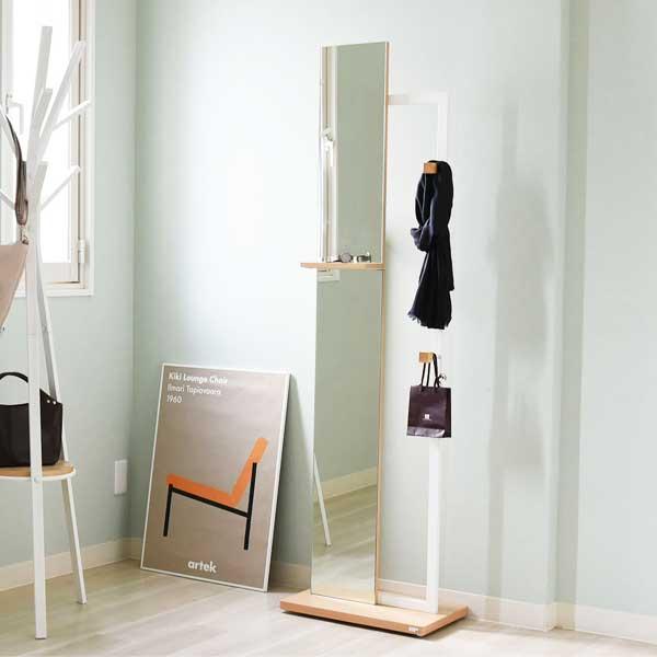 リ・コンテ Re・conte リタ Rita ホワイト WH スタンドミラー Stand Mirror DRT-1005-WH 【送料無料】【代引不可】