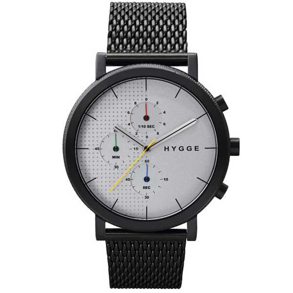 ヒュッゲ HYGGE 腕時計 2204 HGE020004 Leather / Black Dial / Black Case【送料無料】
