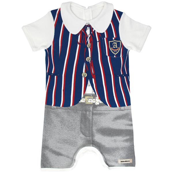 赤ちゃんだってお洒落にキメたい 出産祝いとしても人気のロンパース amabro アマブロ BAB DRESS 80cm バブドレス 『4年保証』 BLAZER 半額 ブレザー