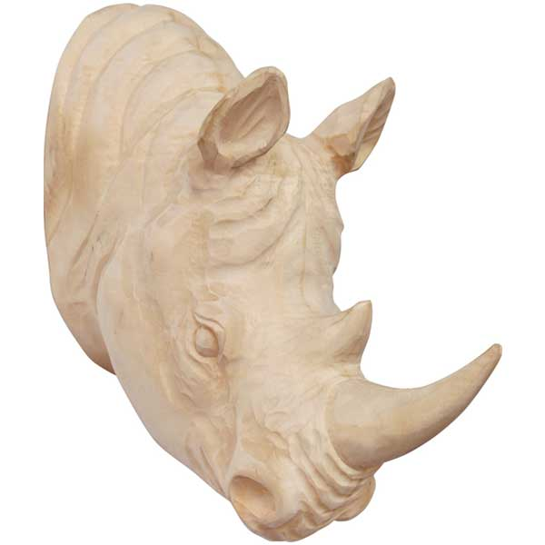 amabro アマブロ WOOD ANIMAL HEAD ウッドアニマルヘッド Rhino サイ 0964