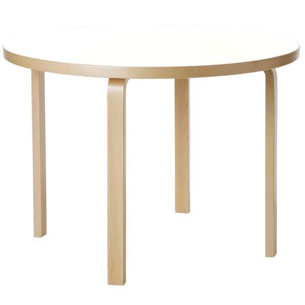 【大型家具】Artek アルテック 家具 90Aテーブル ホワイト ラミネート 171001*納期は受注後お知らせ致します。