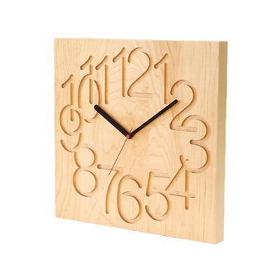 コサイン cosine MUKU時計 大 掛け置き時計 メープル材 CW-09CM【送料無料】【代引不可】【ラッピング不可】
