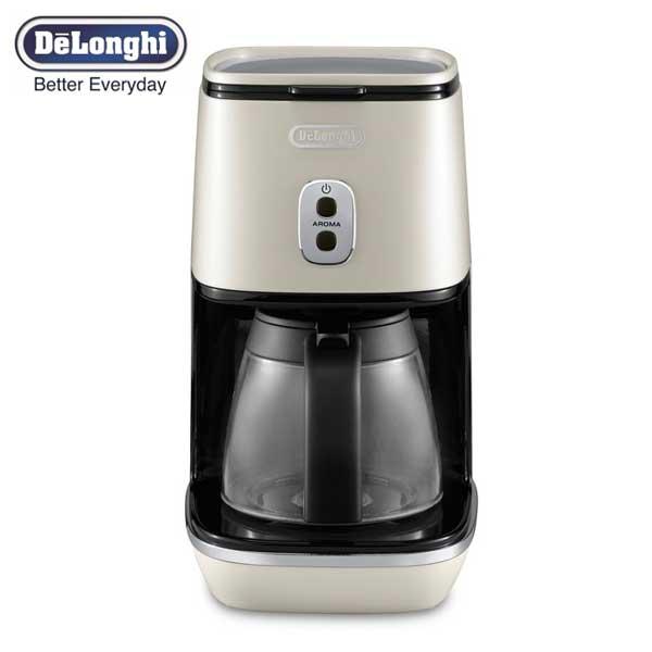 デロンギ DeLonghi ディスティンタコレクション ドリップコーヒーメーカー ピュアホワイト ICMI011J-W 【送料無料】
