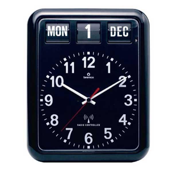 【あす楽】ディテール DETAIL トゥエンコ ラジオ コントロール カレンダー クロック Twemco Radio Control Calender Clock RC-12A 492BK (電波時計)【送料無料】【asrk_ninki_item】