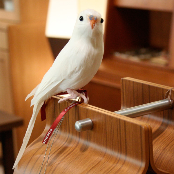 セキセイインコのオブジェ プエブコ PUEBCO ARTIFICIAL BIRDS 100%品質保証! 126074 バードオブジェBudgieセキセイインコ ホワイト 定価の67%OFF