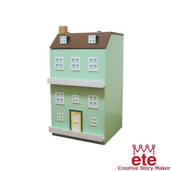 エテ ete 子供収納家具 タウンチェスト3番地<グリーン>【送料無料】【代引不可】※お届けまでお日にちがかかる場合がございます。