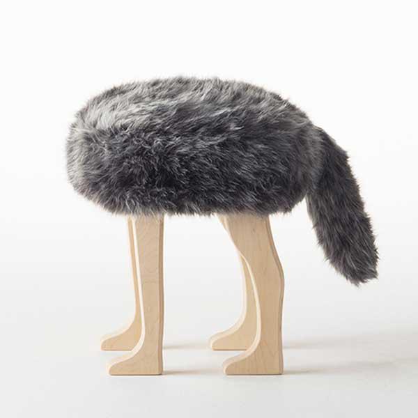 アッシュコセンプト h concept 匠 Takumi アニマルスツール Animal Stool ウルフ グレーミックス L Gray Mix L※受注生産品となります。