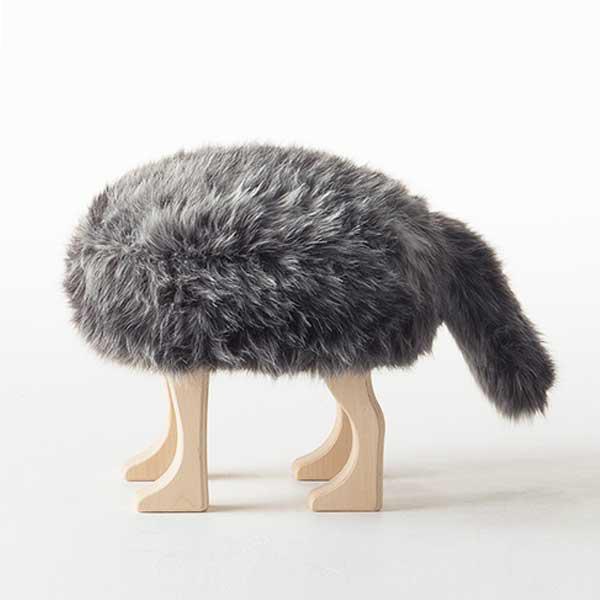アッシュコセンプト h concept 匠 Takumi アニマルスツール Animal Stool ウルフ グレーミックス S Gray Mix S※受注生産品となります。