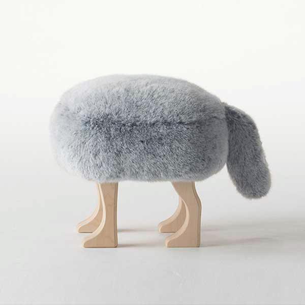 アッシュコンセプト h concept 匠 Takumi アニマルスツール Animal Stool フォックス グレー S Gray S ※受注生産品となります。