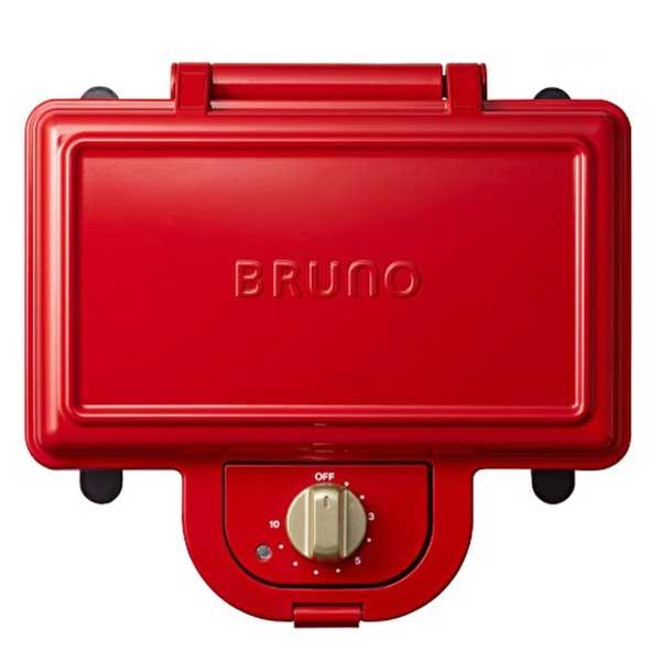 イデア idea ブルーノ Bruno ホットサンドメーカー ダブル レッド BOE044-RD