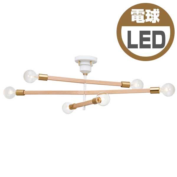 インターフォルム INTERFORM アストル-バウム- Astre-baum ボール球形LED電球(電球色)×6付 LT-3529-WH