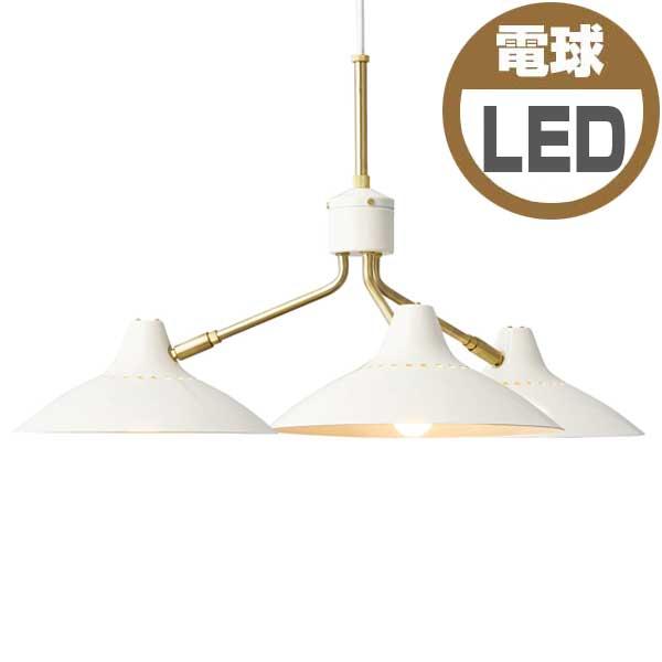 インターフォルム INTERFORM トーシャ Tocha 小形LED電球(電球色)×3付き LT-3923