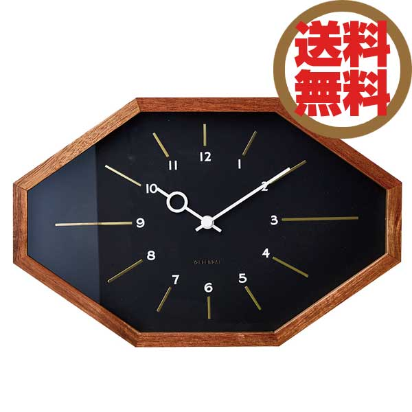 インターフォルム INTERFORM クロック CLOCK ベルモンテ Belmonte ブラック CL-3024 BK 【送料無料】