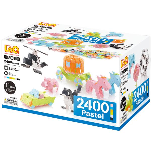 LaQ ラキュー Basic 2400 ベーシック 2400 Pastel パステル 2400pcs+60pcs【送料無料】