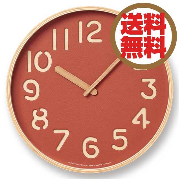 レムノス Lemnos 掛時計 トムソンペーパー THOMSON PAPER レッド NY16-09 RD *受注後に納期をお知らせ致します。 【送料無料】