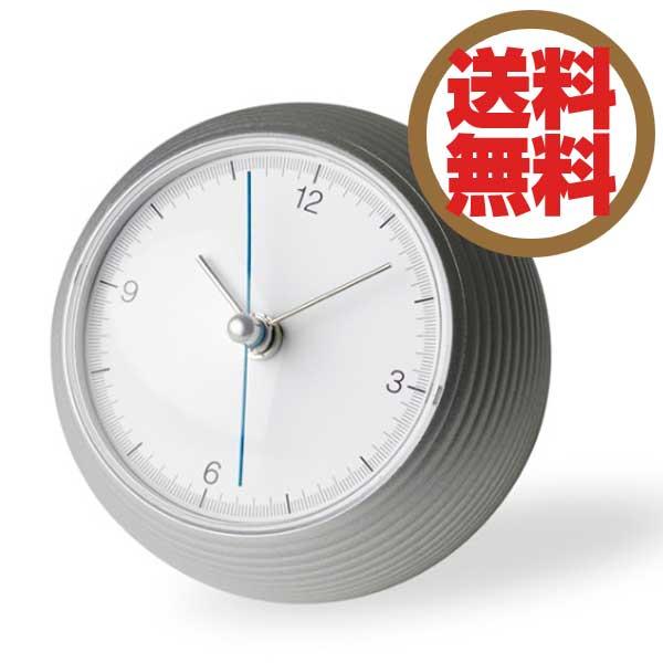レムノス Lemnos 置時計 アースクロック earth clock シルバー TIL16-10 SL *受注後に納期をお知らせ致します。 【送料無料】