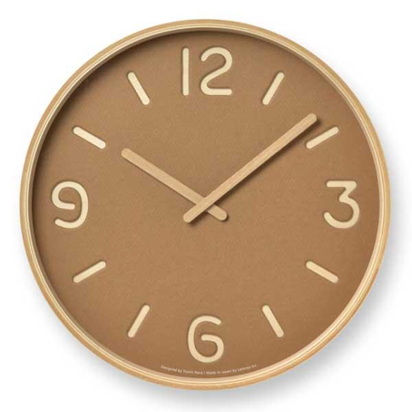 レムノス Lemnos クロック Clock トムソンペーパー THOMSON PAPER ブラウン NY18-15 BW *受注後に納期をお知らせ致します。