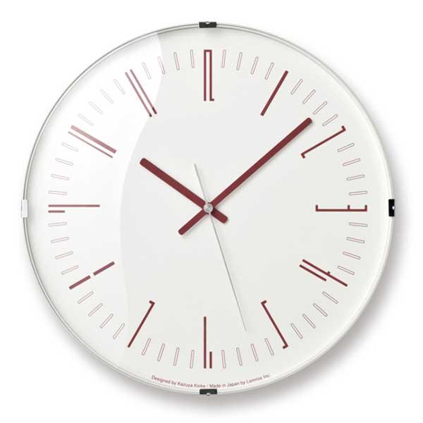 レムノス Lemnos クロック Clock ドロー ウォール クロック Draw wall clock レッド 電波時計 KK18-12 RE *受注後に納期をお知らせ致します。