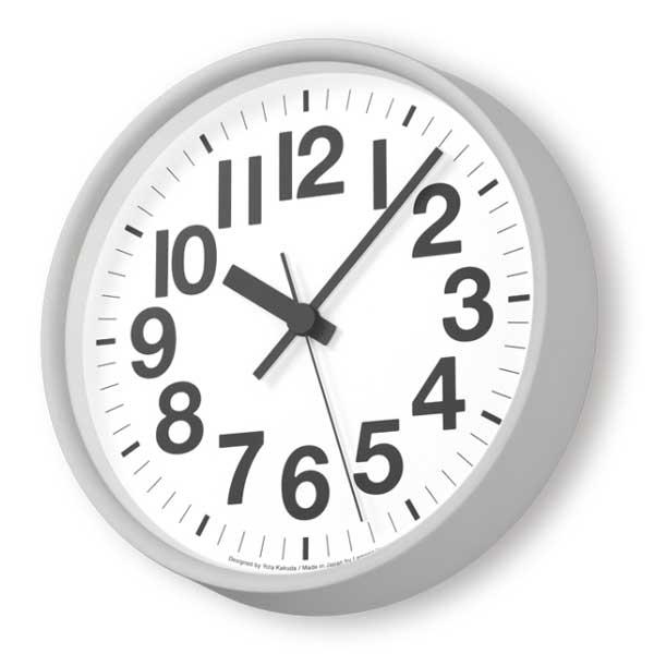 レムノス Lemnos クロック Clock ナンバーの時計 電波時計 グレー YK18-10 GY *受注後に納期をお知らせ致します。