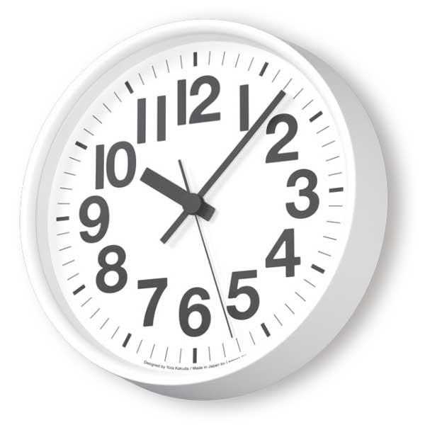 レムノス Lemnos クロック Clock ナンバーの時計 電波時計 ホワイト YK18-10 WH *受注後に納期をお知らせ致します。