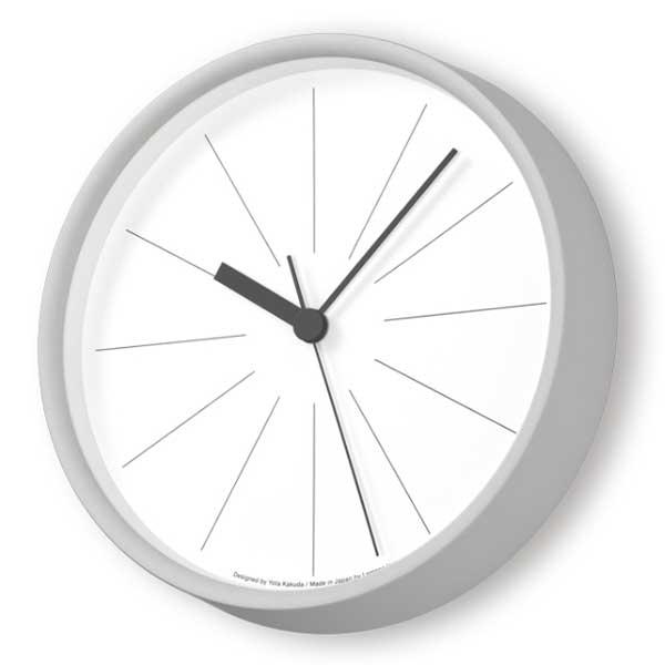レムノス Lemnos クロック Clock ラインの時計 電波時計 グレー YK18-09 GY *受注後に納期をお知らせ致します。