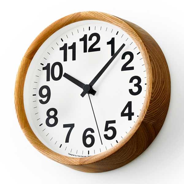 レムノス Lemnos クロック エー Clock A ナチュラル YK14-05 NT *受注後に納期をお知らせ致します。【送料無料】
