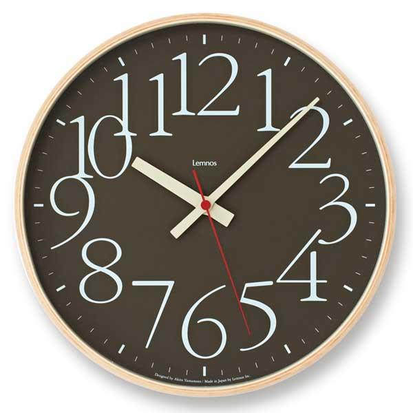 レムノス Lemnos エーワイ クロック RC AY clock RC ブラウン AY14-10 BW *受注後に納期をお知らせ致します。【送料無料】