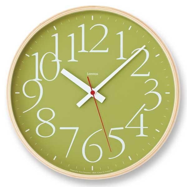 レムノス Lemnos エーワイ クロック RC AY clock RC グリーン AY14-10 GN *受注後に納期をお知らせ致します。【送料無料】