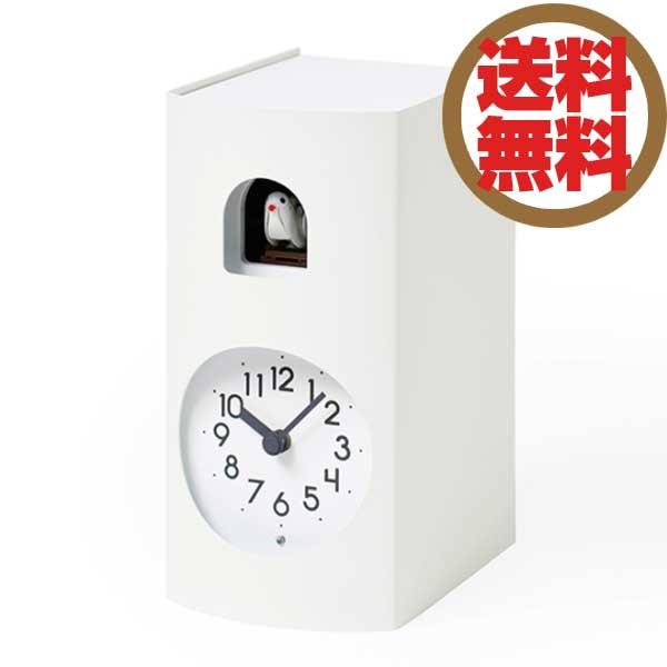 レムノス Lemnos 置き時計 鳩時計 ブックゥ Bockoo ホワイト GF17-04 WH *受注後に納期をお知らせ致します。