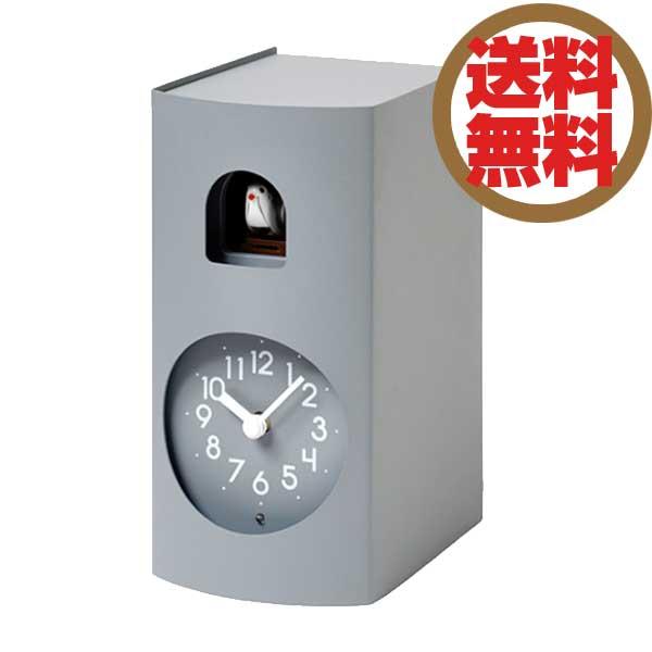レムノス Lemnos 置き時計 鳩時計 ブックゥ Bockoo グレー GF17-04 GY *受注後に納期をお知らせ致します。