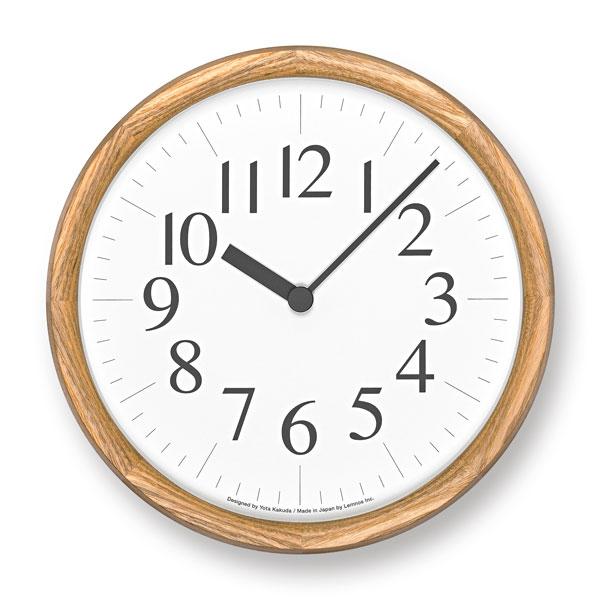 レムノスLemnosクロックClock電波時計掛け時計Clock BYK19-14 NTナチュラル【送料無料】*受注後に納期をお知らせ致します。