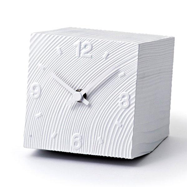 レムノスLemnosクロックClock置時計cubeAZ10-17 WHホワイト【送料無料】*受注後に納期をお知らせ致します。