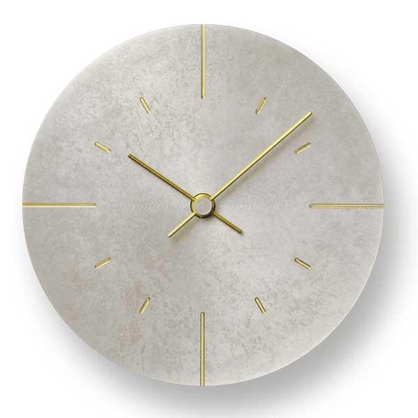 レムノス Lemnos クロック Clock 掛け時計 Orb オーブ AZ15-07 SL 斑紋鈍銀色 *受注後に納期をお知らせ致します。