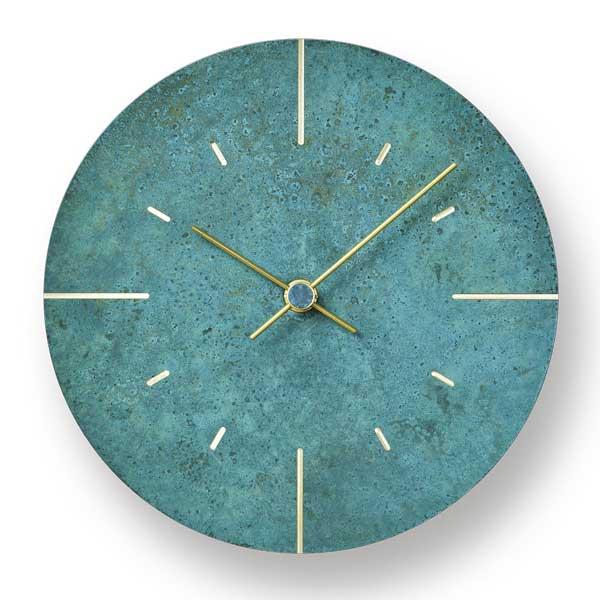 レムノス Lemnos クロック Clock 掛け時計 Orb オーブ AZ15-07 GN 斑紋ガス青銅色 *受注後に納期をお知らせ致します。