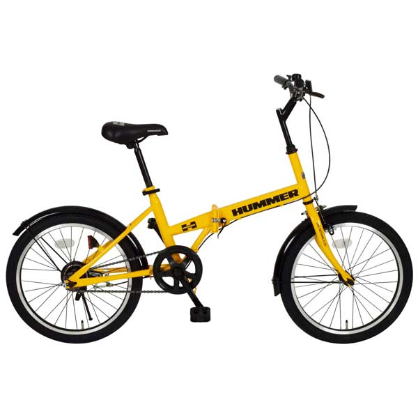HUMMER ハマー 20インチ折畳自転車 FDB20R イエロー MG-HM20R ■【ラッピング不可】【代引不可】【北海道・沖縄・離島配送不可】