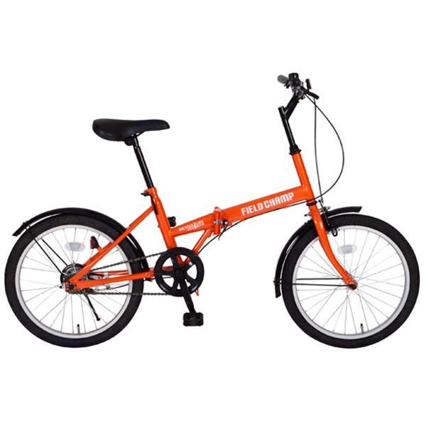 FIELD CHAMP フィールドチャンプ  20インチ折畳自転車 FDB20 オレンジ MG-FCP20 【ラッピング不可】【代引不可】【北海道・沖縄・離島配送不可】