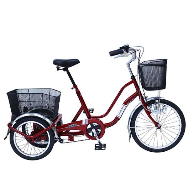 SWING CHARLIE スイングチャーリー 20インチ/16インチ三輪自転車E ワインレッド MG-TRW20NE ■【ラッピング不可】【代引不可】【北海道・沖縄・離島配送不可】
