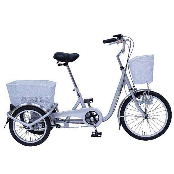 SWING CHARLIE スイングチャーリー 20インチ/16インチ三輪自転車E シルバー MG-TRE20E 【ラッピング不可】【代引不可】【北海道・沖縄・離島配送不可】